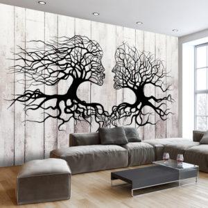 Papier Peint Panoramique A Kiss of a Trees