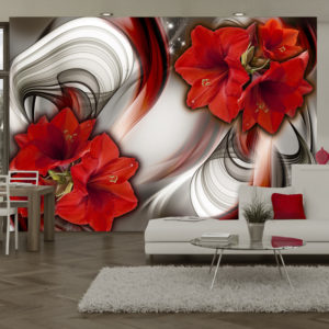 Papier Peint Panoramique Amaryllis - Ballad of the Red