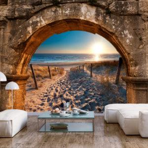Papier Peint Panoramique Arch and Beach