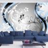 Papier Peint Panoramique Art-flowers (blue)