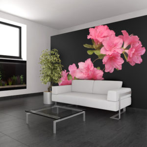 Papier Peint Panoramique Azalea in Black