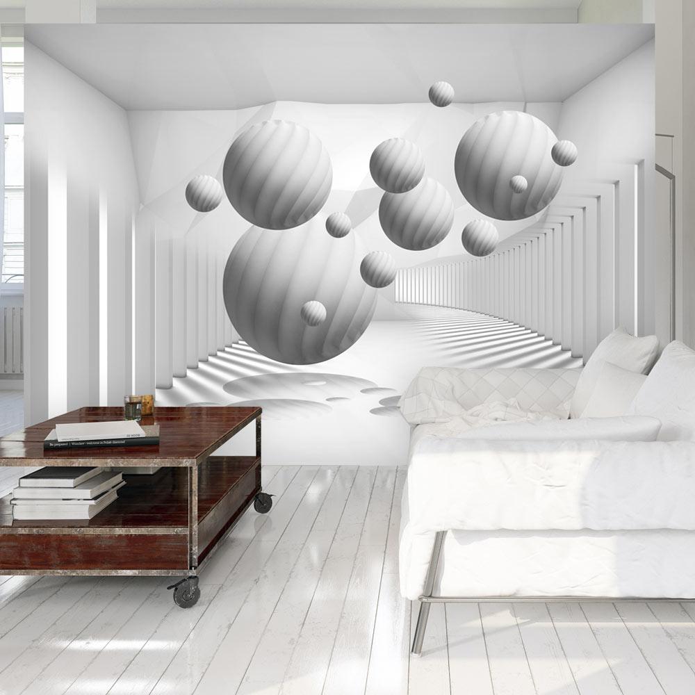 Papier Peint Panoramique Balls in White