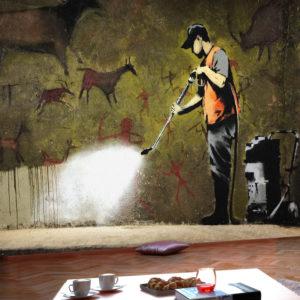 Papier Peint Panoramique Banksy - Cave Painting