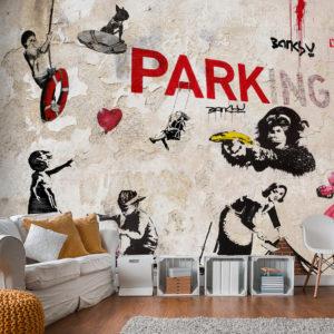 Papier Peint Panoramique [Banksy] Graffiti Collage