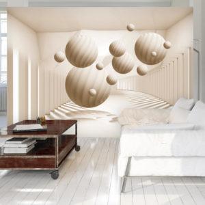 Papier Peint Panoramique Beige Balls