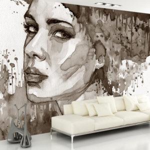 Papier Peint Panoramique Black Lady