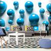 Papier Peint Panoramique Blue Balls