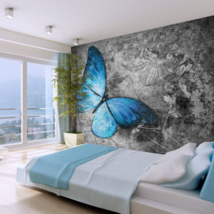 Papier Peint Panoramique Blue butterfly