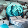 Papier Peint Panoramique Blue glow