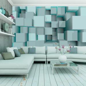 Papier Peint Panoramique Blue puzzle