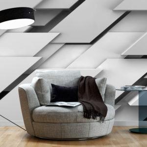 Papier Peint Panoramique Bord du gris