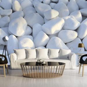 Papier Peint Panoramique Cailloux blancs