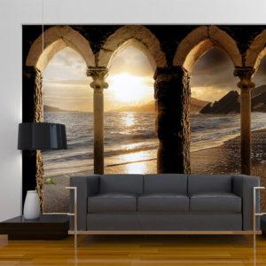 Papier Peint Panoramique Castle on the beach