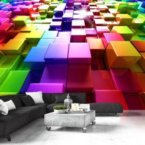 Papier Peint Panoramique Colored Cubes