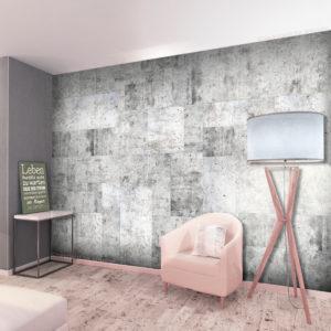 Papier Peint Panoramique Concrete: Grey City