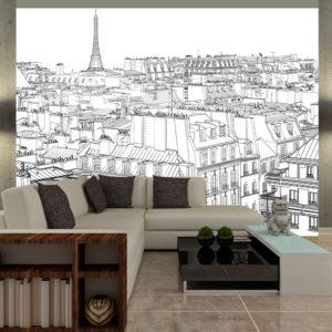 Papier Peint Panoramique Croquis parisien