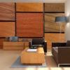 Papier Peint Panoramique Cubes en bois