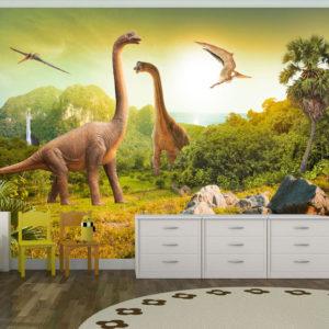 Papier Peint Panoramique Dinosaurs