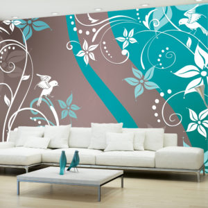 Papier Peint Panoramique Floral fantasy III