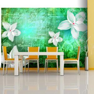 Papier Peint Panoramique Floral notes III