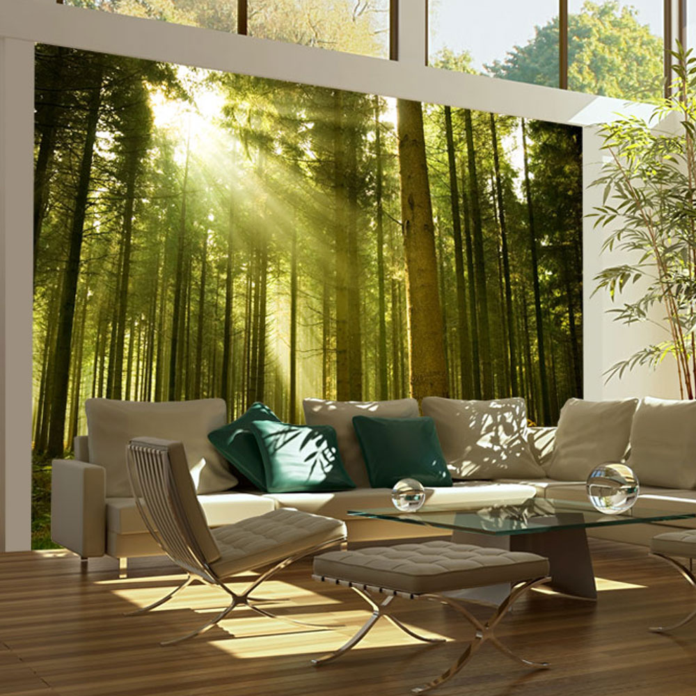 Papier Peint Panoramique Paysage papier peint panoramique forêt de pins