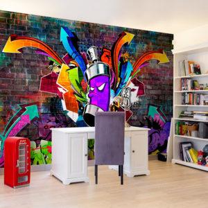 Papier Peint Panoramique Graffiti: Colourful attack