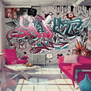 Papier Peint Panoramique Graffiti: hey You!