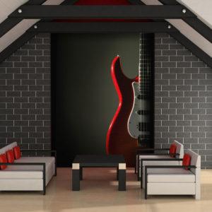 Papier Peint Panoramique Guitare électrique