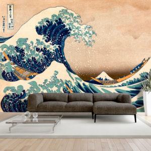 Papier Peint Panoramique Hokusai: The Great Wave off Kanagawa (Reproduction)