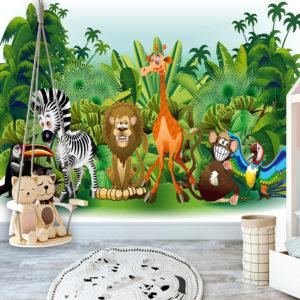 Papier Peint Panoramique Jungle Animals
