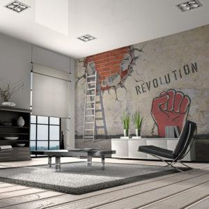 Papier Peint Panoramique La main invisible de la révolution