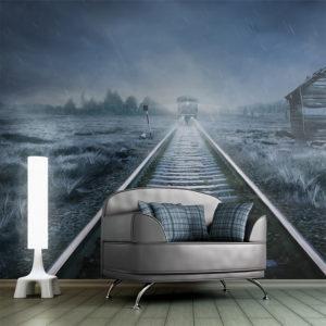 Papier Peint Panoramique Le train fantôme