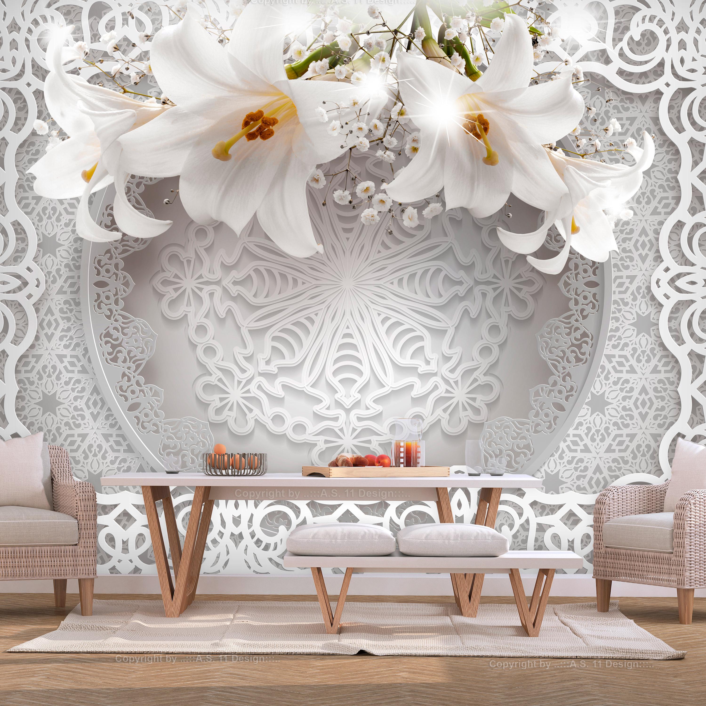 Papier Peint Panoramique Lilies and Ornaments