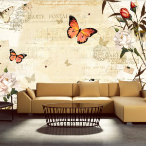 Papier Peint Panoramique Melodies of butterflies