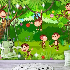 Papier Peint Panoramique Monkey Tricks