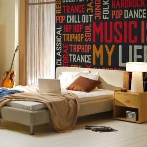 Papier Peint Panoramique Music is my life