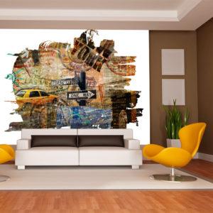Papier Peint Panoramique New York collage