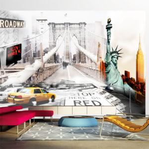 Papier Peint Panoramique New York streets
