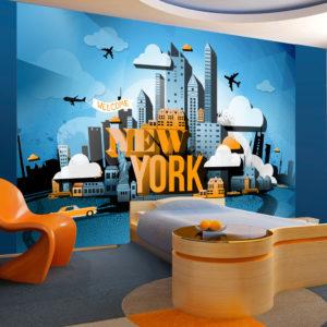 Papier Peint Panoramique New York - welcome