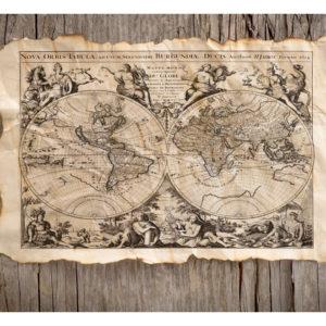Tapisserie murales Carte du monde