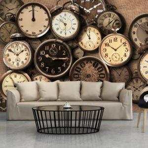 Papier Peint Panoramique Old Clocks