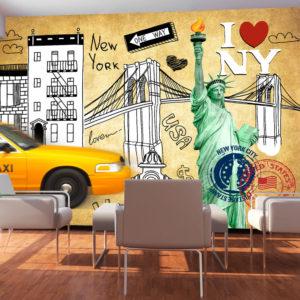 Papier Peint Panoramique One way - New York