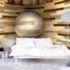 Papier Peint Panoramique Orbite de bois
