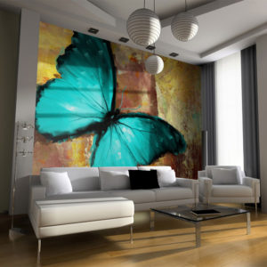 Papier Peint Panoramique Painted butterfly