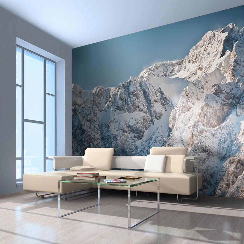 Papier Peint Panoramique Paysage papier peint panoramique paysage enneigé, alpes