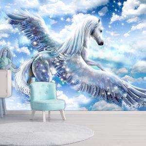 Papier Peint Panoramique Pegasus (Blue)