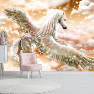 Papier Peint Panoramique Pegasus (Orange)
