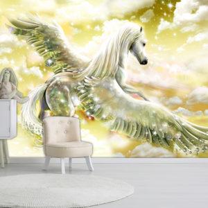 Papier Peint Panoramique Pegasus (Yellow)