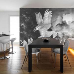 Papier Peint Panoramique Pegasus sur le chemin de l'Olympe
