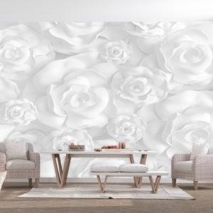 Papier Peint Panoramique Plaster Flowers